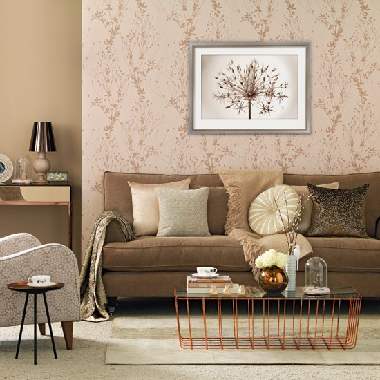 Rose gold living room living room decorating ideas for Living room ideas gold