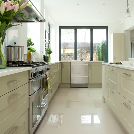 white and pale green kitchen  Kitchen decorating  Beautiful Kitchens