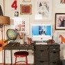 Fun and eclectic home office | Home office decorating ideas