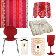 Cheryl Coles racy lacy red bedroom