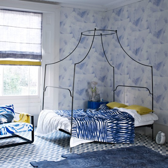 Blue and yellow modern bedroom | Fresh blue bedroom makeovers | Design | Livingetc | PHOTO GALLERY | Housetohome.co.uk