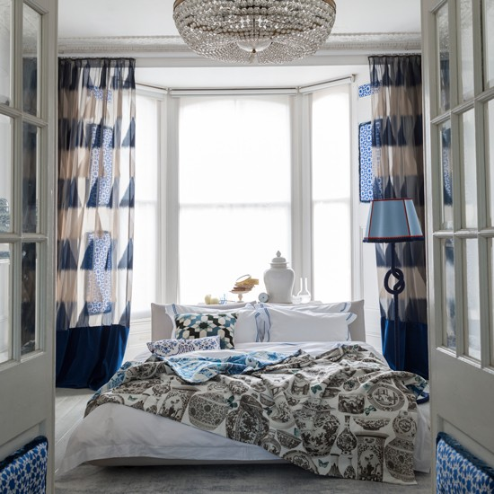 Bedroom with blue and white curtains | Fresh blue bedroom makeovers | Design | Livingetc | PHOTO GALLERY | Housetohome.co.uk