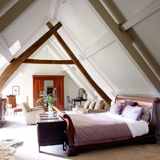 Neutral country loft bedroom bedroom decorating for Bedroom design uk