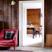 Wood panelled country hallway