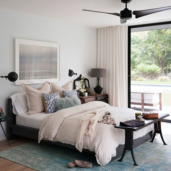 Bedroom | American beach house | House tour | PHOTO GALLERY | Livingetc | Housetohome.co.uk