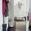 Polka dot patterned hallway