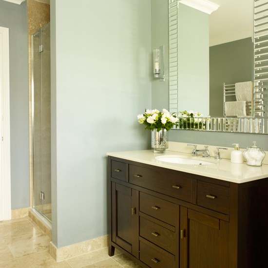 Cherrywood And Grey Bathroom