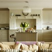 Pale grey Shaker-style kitchen