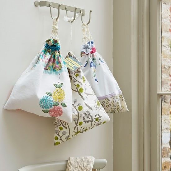 Shoe storage bags | Country utility room ideas | Utility room | PHOTO GALLERY | Country Homes and Interiors | Housetohome.co.uk