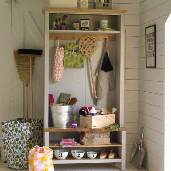 Housework cupboard | Country utility room ideas | Utility room | PHOTO GALLERY | Country Homes and Interiors | Housetohome.co.uk