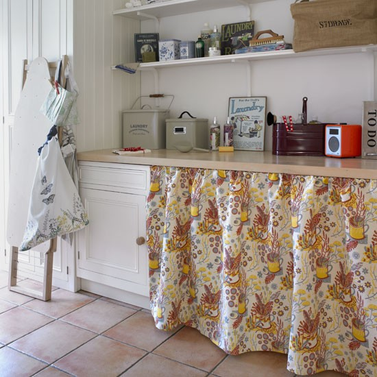 Curtain cover up | Country utility room ideas | Utility room | PHOTO GALLERY | Country Homes and Interiors | Housetohome.co.uk