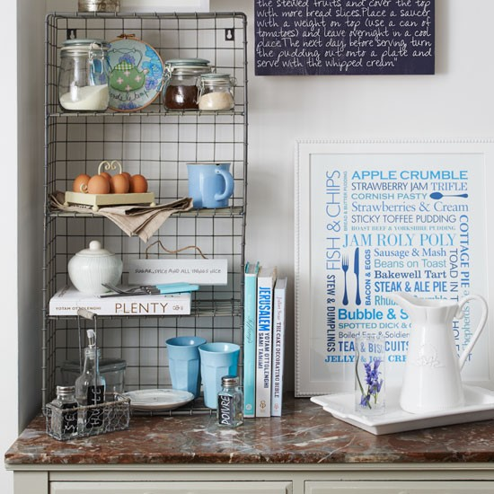Wire storage | Country utility room ideas | Utility room | PHOTO GALLERY | Country Homes and Interiors | Housetohome.co.uk