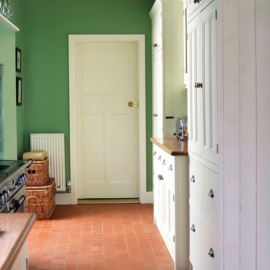 Green and cream utility room declutter the easy way with for Utility rooms uk