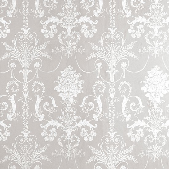 Elegant Cream Hallway With Damask Wallpaper: Josette Damask Wallpaper From Laura Ashley