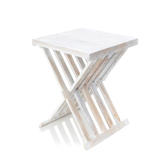 Antique Coffee Table With Folding Sides: Mango Folding Side Table From French Connection