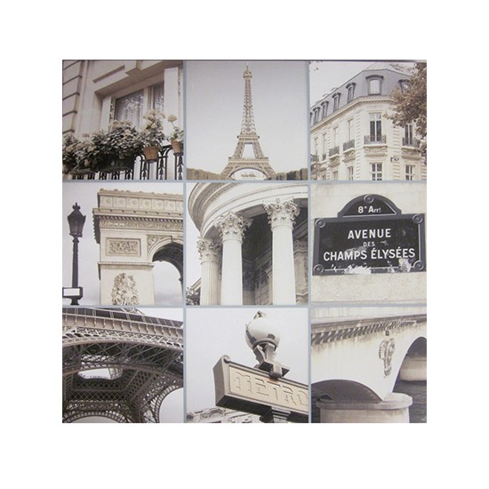 paris collage printed canvas from dunelm mill french. Black Bedroom Furniture Sets. Home Design Ideas
