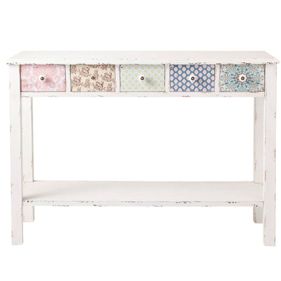 celestine white side table from maison du monde shabby chic design ideas. Black Bedroom Furniture Sets. Home Design Ideas