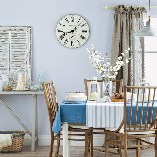 Pale blue country dining room dining room decoration for Dining room ideas in blue