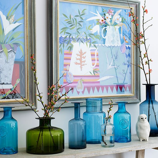 Bottled up | How to decorate with blue | PHOTO GALLERY | Homes & Gardens | housetohome.co.uk