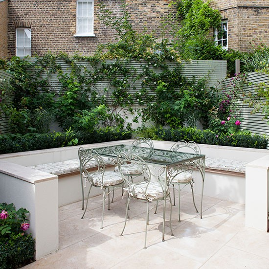 romantic garden seating area contemporary garden ideas