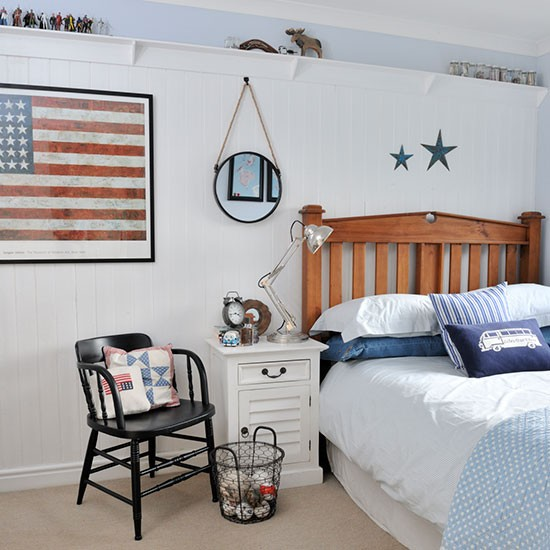 Boy 39 s bedroom take inspiration from this new england for Boys bedroom ideas uk
