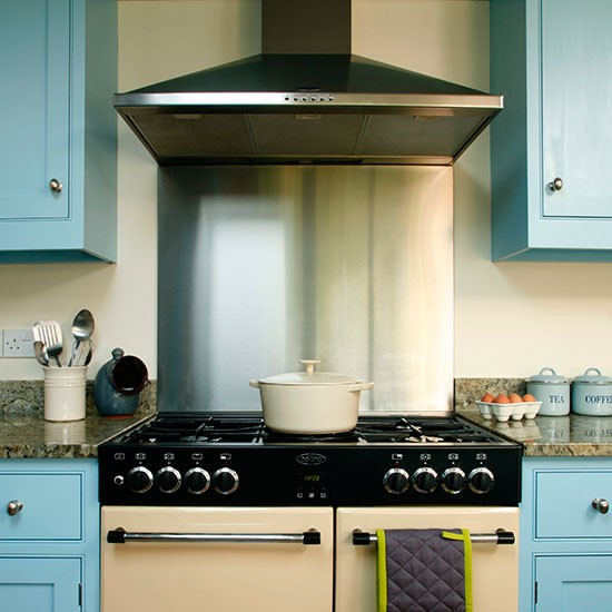 Stainless Steel Splashback Be Inspired By This Blue