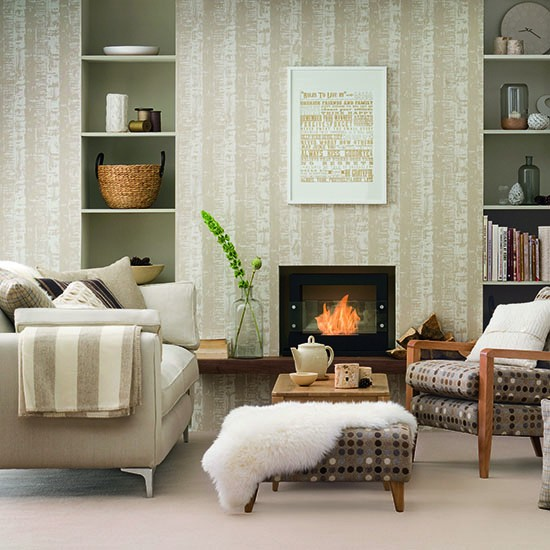 Cosy Colours Living Room: Living Area With A Soft Base Colour