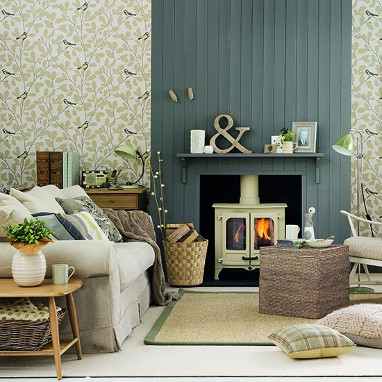 Living room layered with colour and pattern | How to decorate with neutrals | PHOTO GALLERY | Ideal Home | Housetohome.co.uk