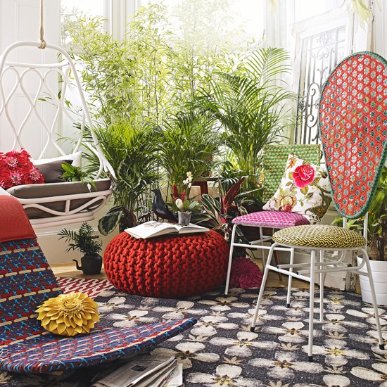 Eclectic botanical conservatory conservatory decorating ideas