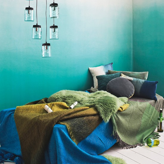 green and aqua bedroom green and blue colour schemes home trends