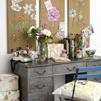 Floral home office