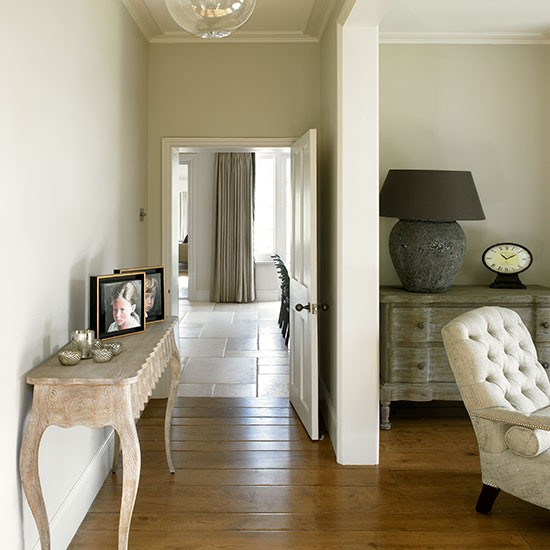 Cream and wood floor hallway | housetohome.