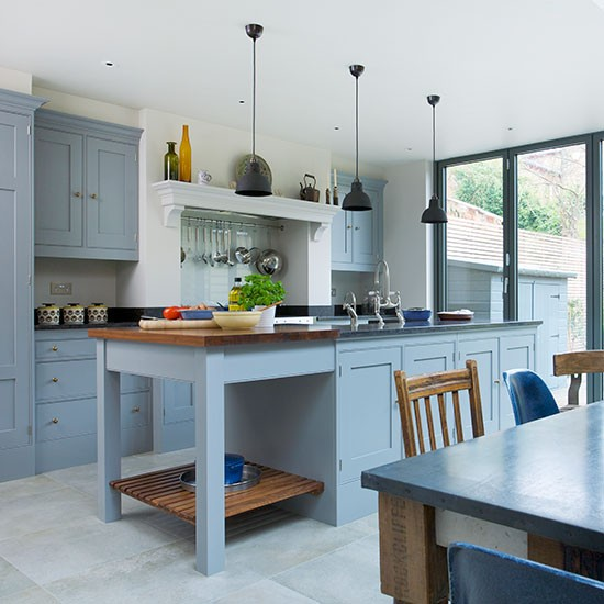 Blue Kitchens Interesting Of Blue and Grey Kitchen Ideas Image