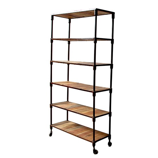 Reiner upcycled pipe bookshelf from little tree furniture for Tree shelving unit