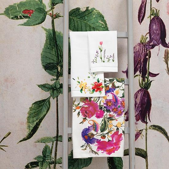 Bold Botanical Wall Mural Botanical Room Design Ideas