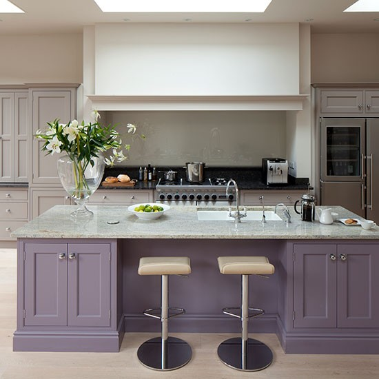 Purple Kitchen Island Painted Kitchen Design Ideas