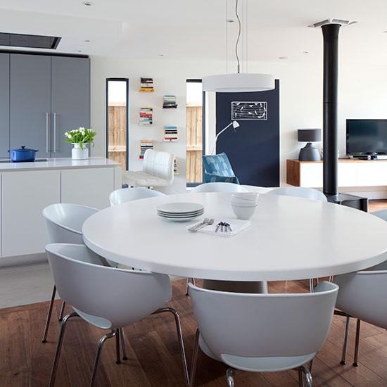 White Kitchen Modern: Modern Grey And White Kitchen-diner