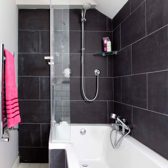 Bathroom Design Shower Over Bath : Tiny bathrooms small bathroom design ideas housetohome