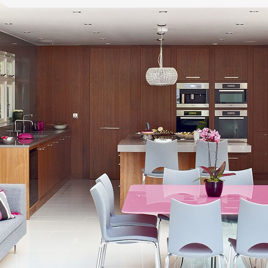 Open Plan Kitchen Design Tips: Colourful And Practical Open-plan Kitchen