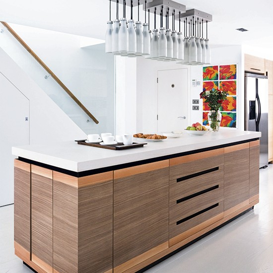 Designer Kitchen Units: Mixed Materials Island Unit