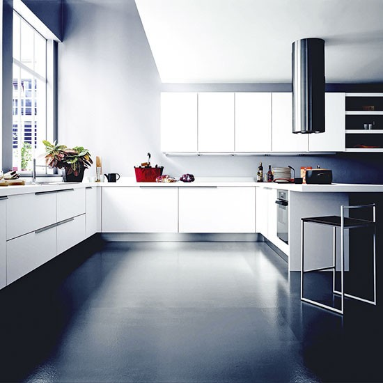 Modern monochrome kitchen units designer kitchen units for Kitchen unit designs pictures