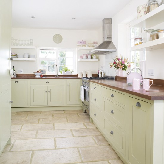 Kitchen Ideas Wooden Worktops: Green Kitchen Colour Ideas - Home
