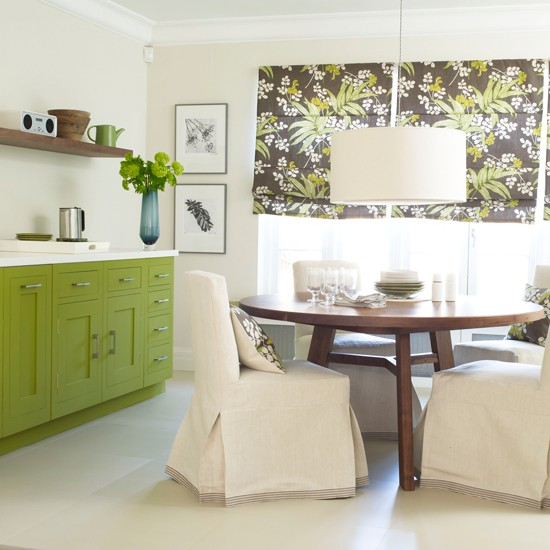 Kitchen With Bold Green Cabinetry