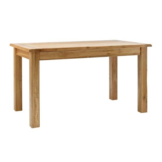 Rustic oak dining table from Hampshire Furniture Budget  : Hampshire Furniture Rustic Oak Dining Table from housetohome.co.uk size 550 x 550 jpeg 20kB