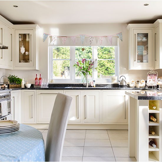 Country style cream kitchen Kitchen decorating