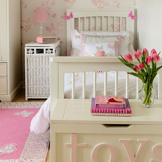 Pink and cream girl's bedroom | Children's bedroom decorating | Style at Home | Housetohome.co.uk