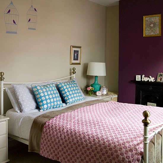 Cream And Plum Bedroom Bedroom Decorating Housetohome