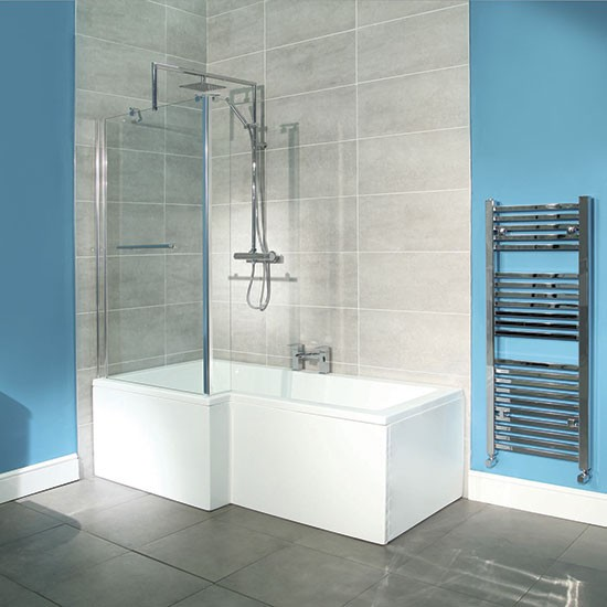 Bathroom Design Shower Over Bath : Square shower bath from better bathrooms baths