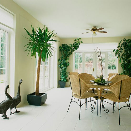 Conservatory Dining Ideas 10 Of The Best: Neutral Minimal Conservatory