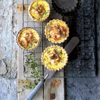 Prawn and cockle tartlets